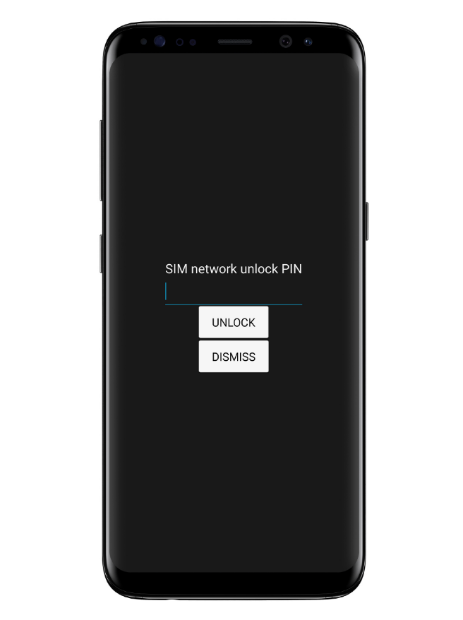Enter Samsung Unlock Code