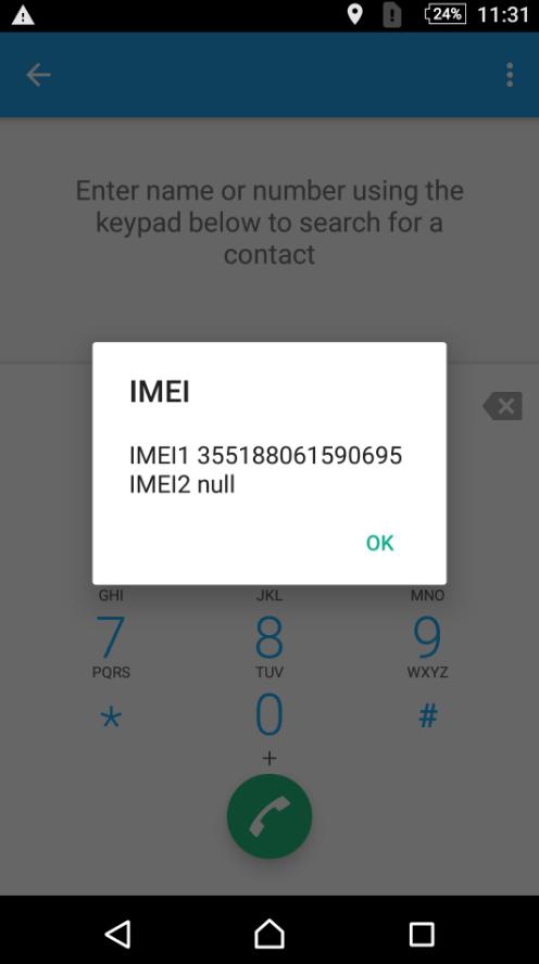 Sony IMEI Code