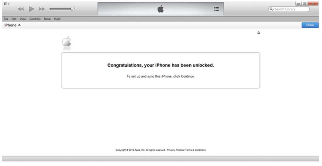 Unlock iPhone by iTunes