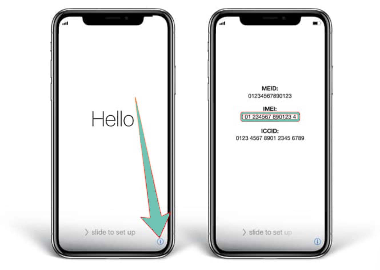 Find iPhone X IMEI Number